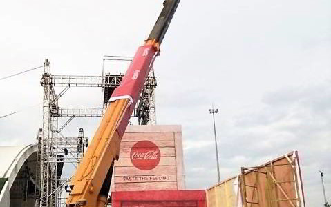 Manlift for Coca-cola Project