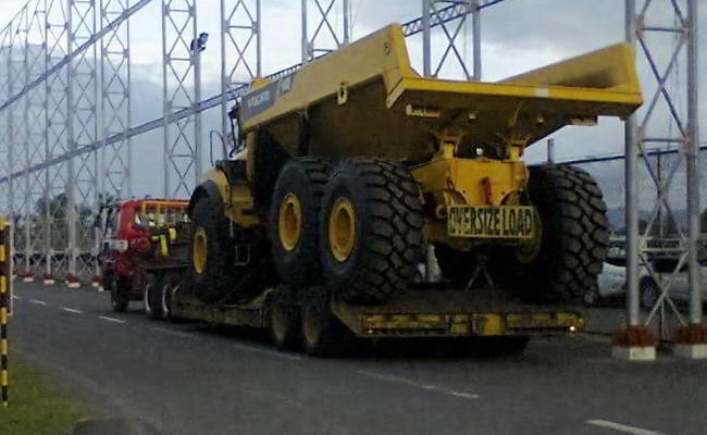 Transport of Dump Truck for ANSECA Project