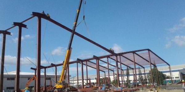 I-Beam Erection for Multiplex Builders Inc
