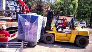 Stripping of Genset with 10 Ton Forklift