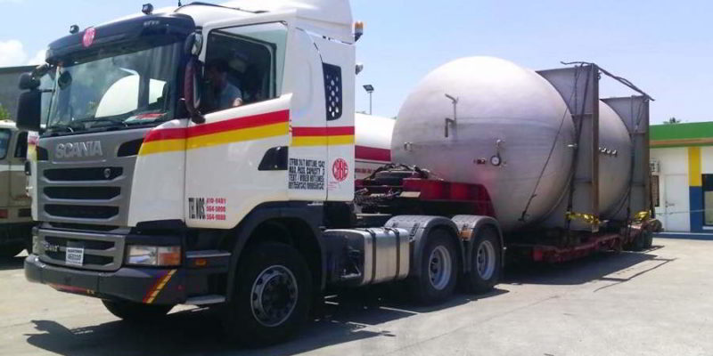 Transport of 20,000 Gallon LPG Tank